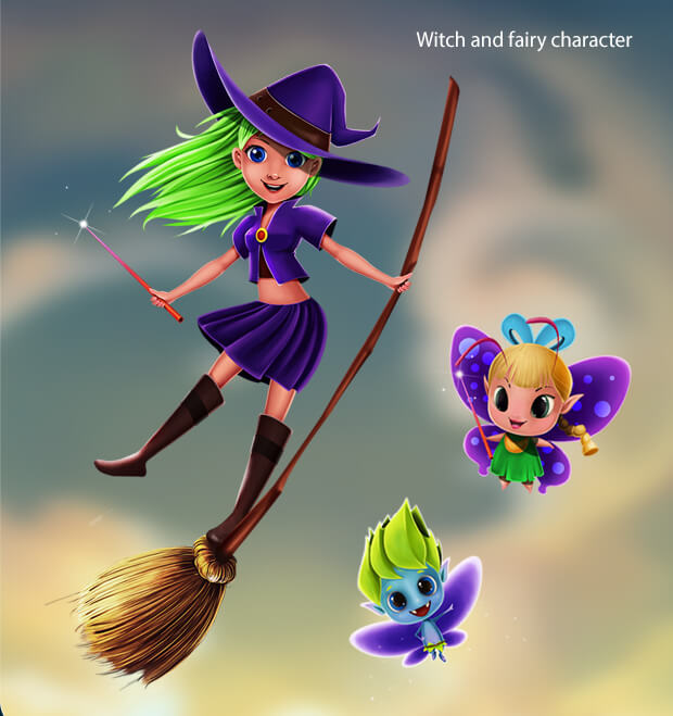 Witch and Fairy Character